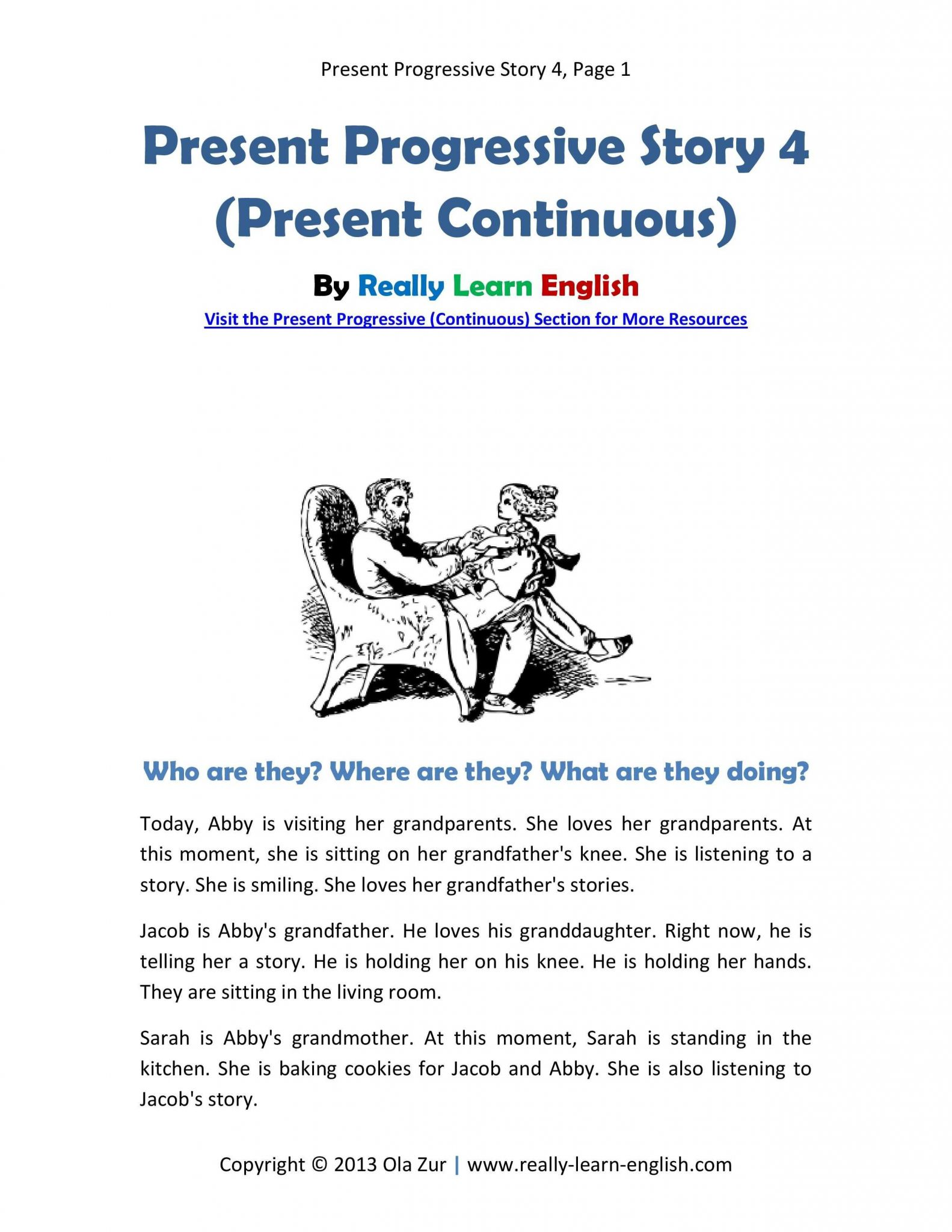 Bullying Worksheets Pdf Along with English Esl Story In the Present Progressive Tense Printable Story