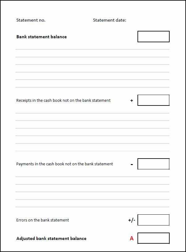 Checking Account Reconciliation Worksheet Along with 21 Best Bank Reconciliation Statement Template Excel format Images