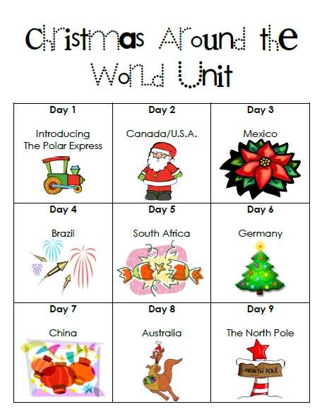 Christmas Around the World Worksheets as Well as First Grade Garden Christmas Around the World and Elf On the Shelf