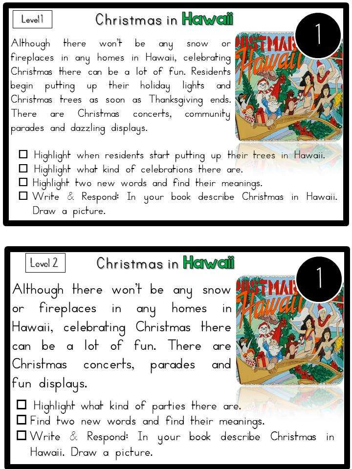 Christmas Around the World Worksheets together with Free Christmas Reading Worksheets for First Grade
