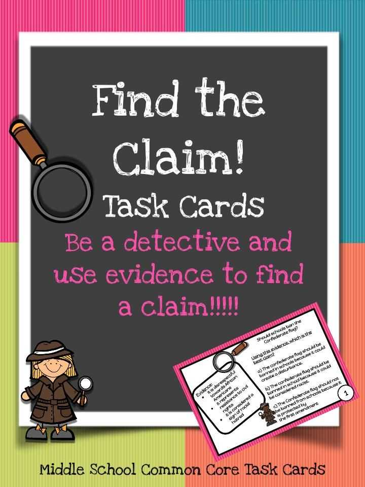 Claim Counterclaim Rebuttal Worksheet as Well as Find the Claim Task Cards
