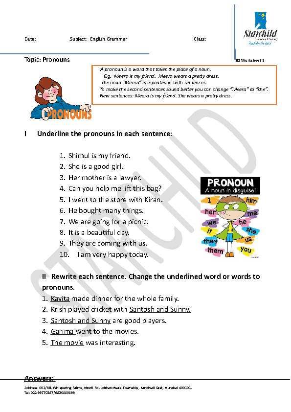 Classroom Objects In Spanish Worksheet Free and 159 Free Personal Pronouns Worksheets