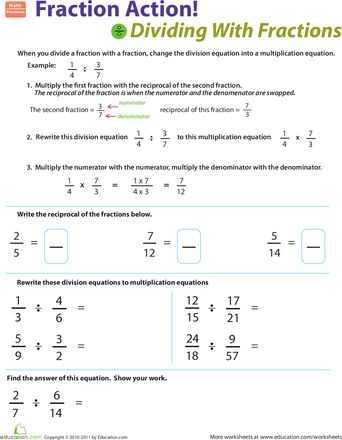 Common Core Dividing Fractions Worksheets and 13 Best Fractions Images On Pinterest