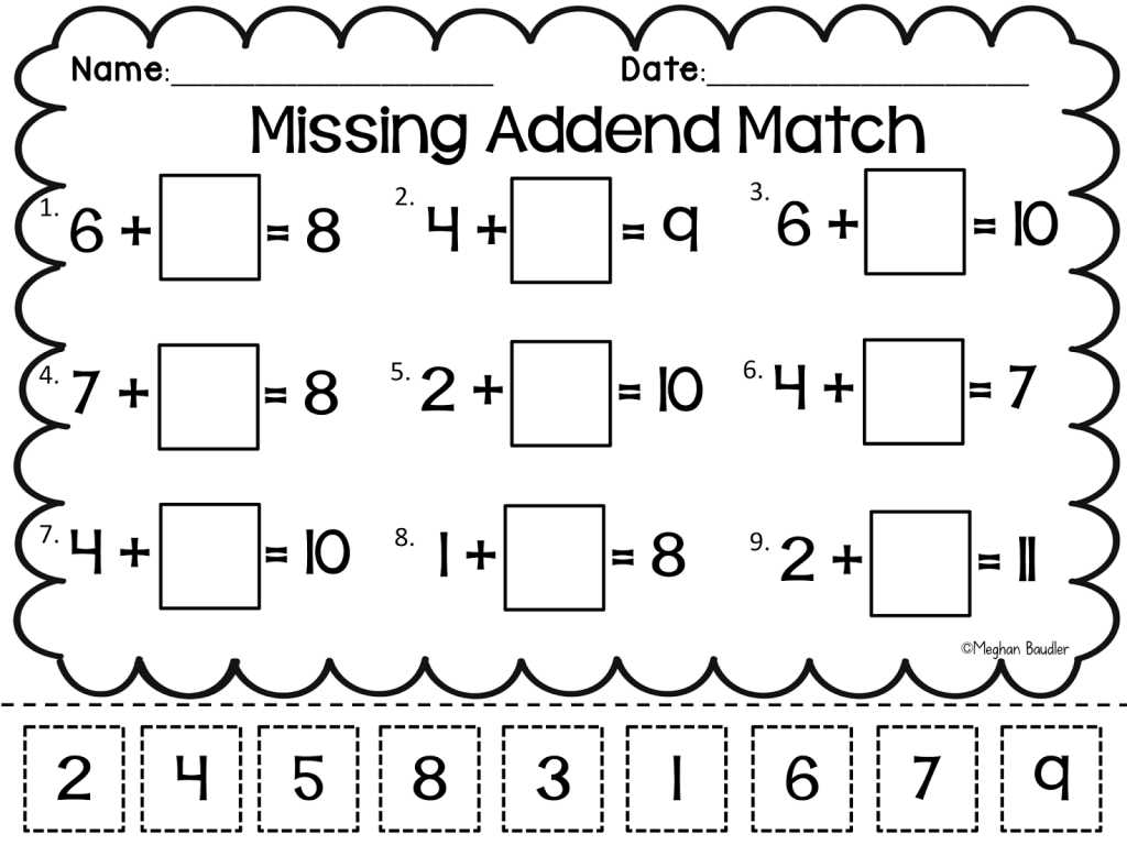 Comparing Plants Worksheet Along with Grade Worksheet Missing Addend Worksheets First Grade Gras