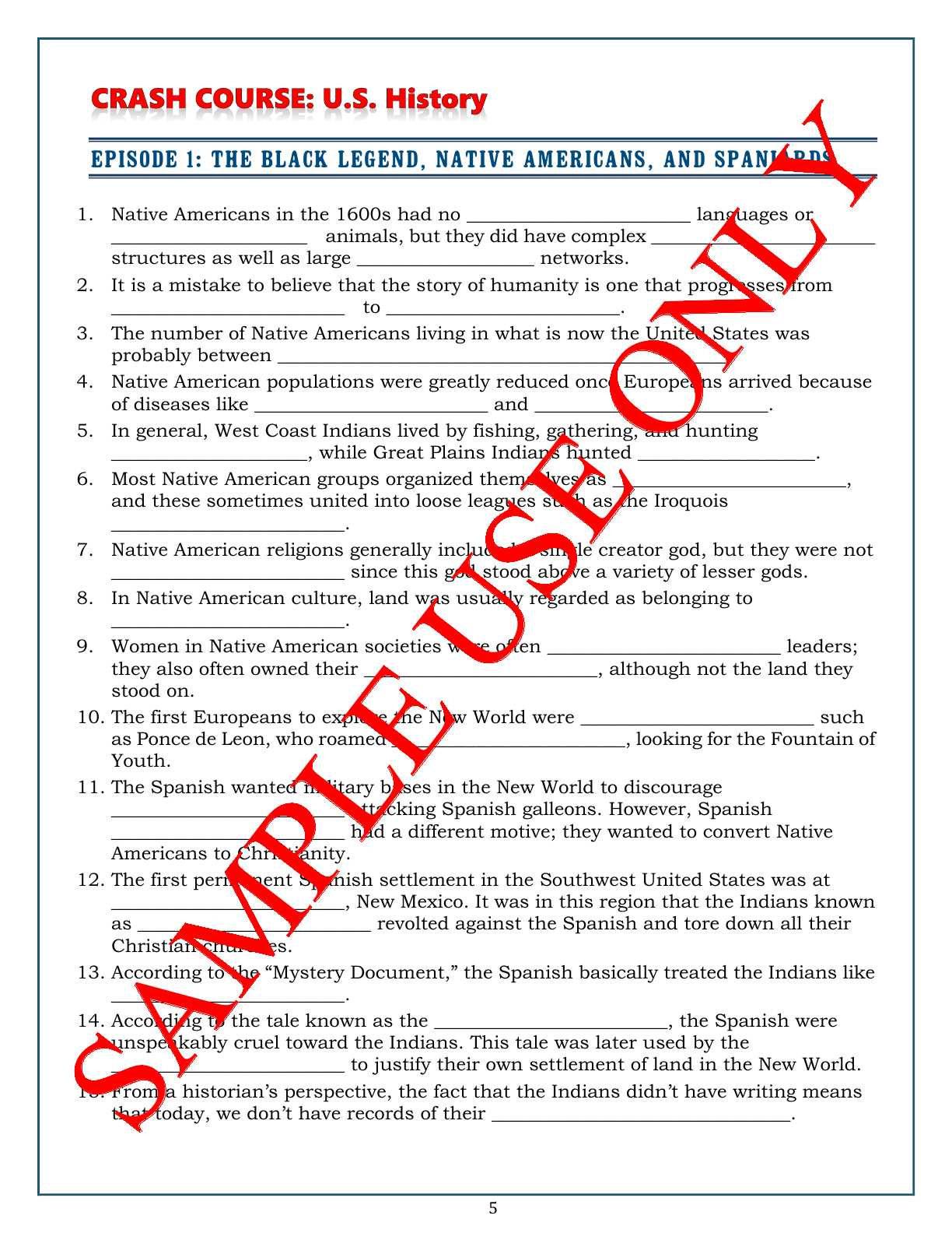 Constitution Usa Episode 1 Worksheet Answers