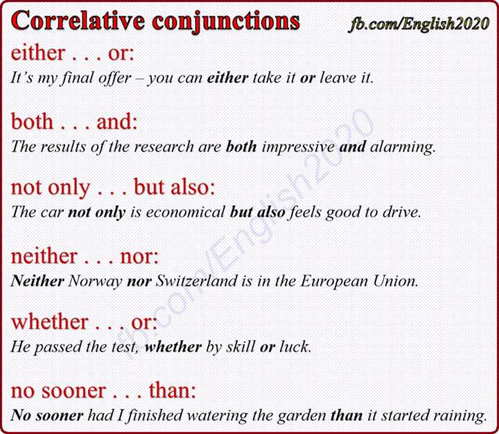 Correlative Conjunctions Worksheets with Answers Also Correlative Conjunctions English Grammar Pinterest