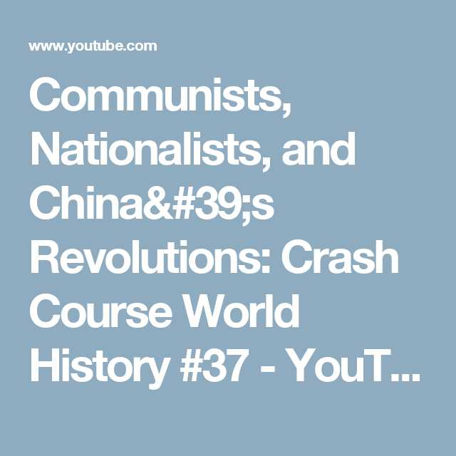 Crash Course World History Worksheets together with Munists Nationalists and China S Revolutions Crash Course
