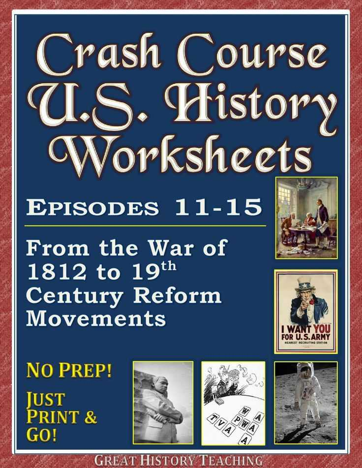 Crash Course World History Worksheets with Crash Course Us History Worksheets Episodes 11 20 Bundle