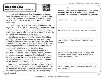 Cross Curricular Reading Comprehension Worksheets and 36 Best Reading Prehension Images On Pinterest
