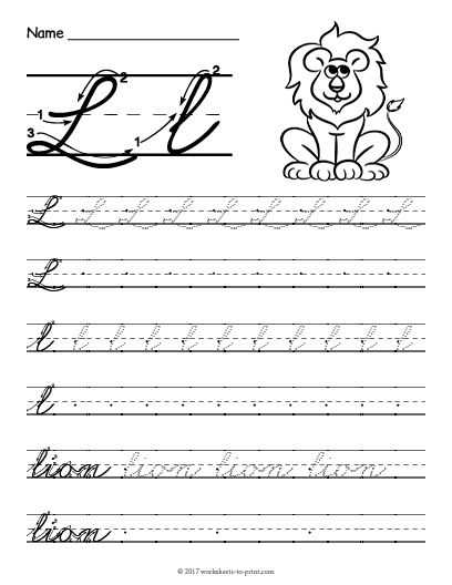 Cursive Letter L Worksheet Along with 27 Best Cursive Writing Worksheets Images On Pinterest
