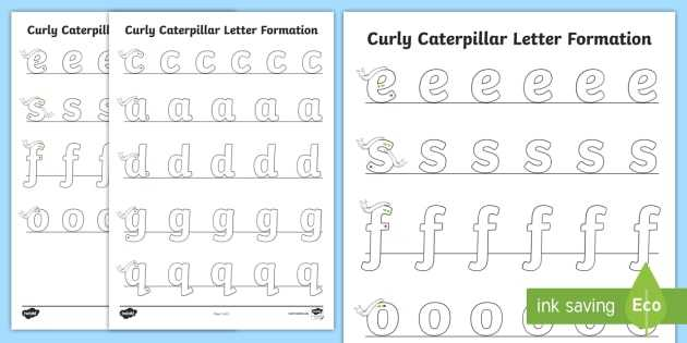 Cursive Letter L Worksheet and Curly Caterpillar Letter formation Worksheet Activity Sheet