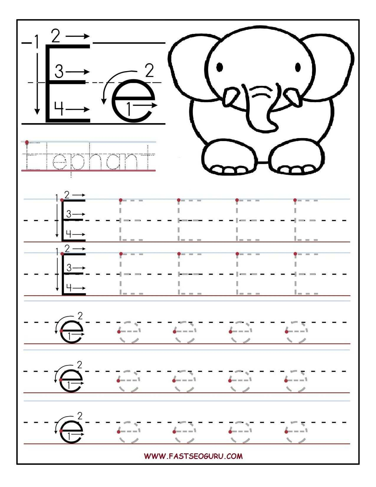 Custom Name Tracing Worksheets and Preschool Name Tracing Worksheets Fresh Printable Letter E Tracing
