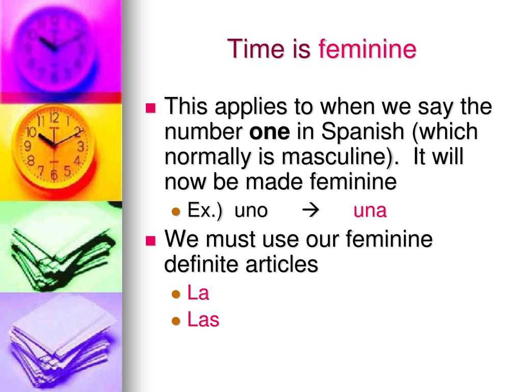 Definite and Indefinite Articles Spanish Worksheet with Telling Time In Spanish Ppt