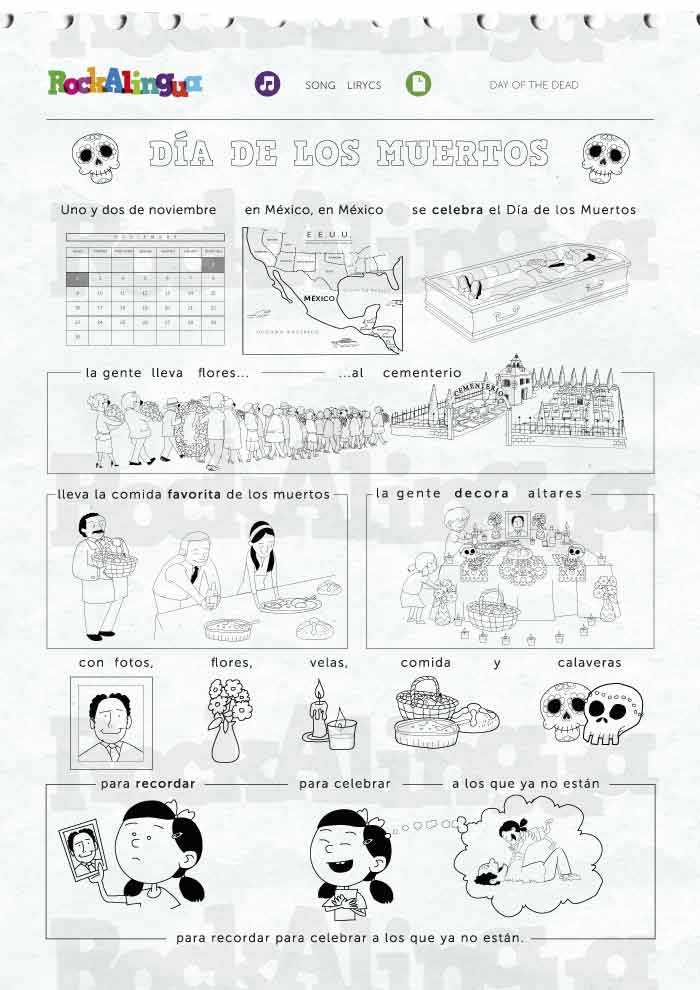 Dia De Los Muertos Worksheet Answers as Well as Day Of the Dead