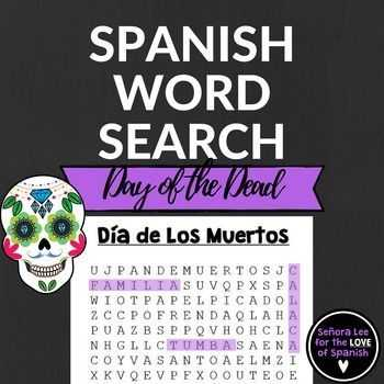 Dia De Los Muertos Worksheet Answers or Spanish Day Of the Dead Word Search D­a De Los Muertos Buscapalabras