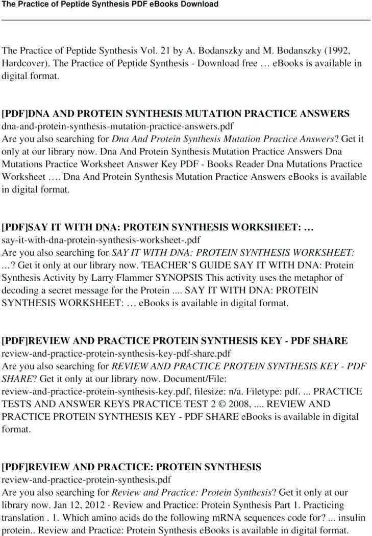Dna Mutations Worksheet Answer Key with Protein Synthesis Review Worksheet Answers Worksheet Math