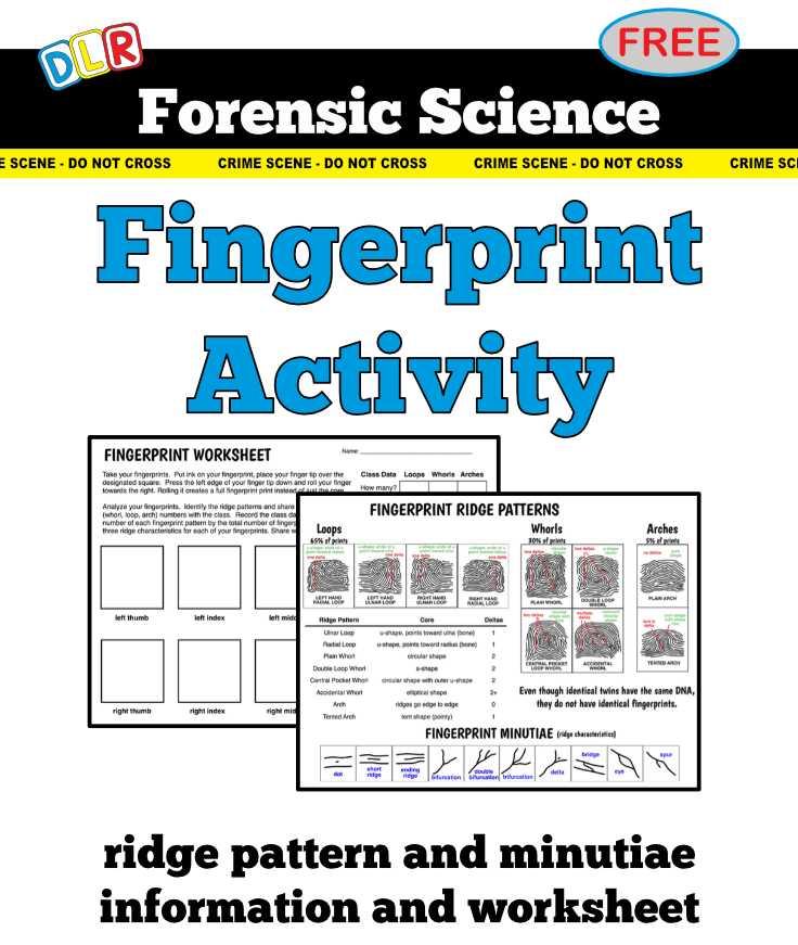 Dna Profiling Worksheet Also Dna Fingerprinting Worksheet forensic Science Fingerprint Activity