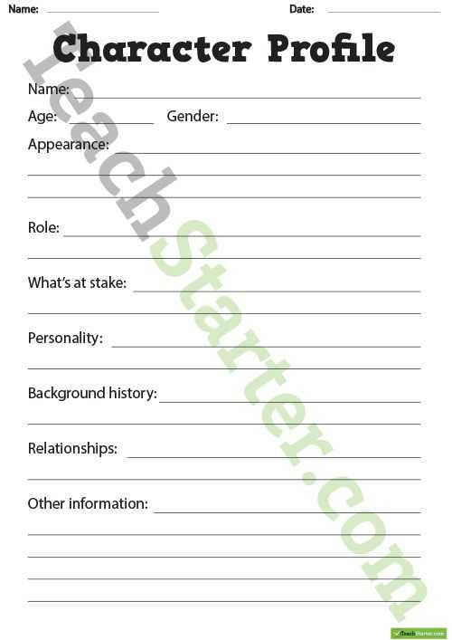 Dna Profiling Worksheet as Well as Inspirational Characterization Worksheet Beautiful Character Profile