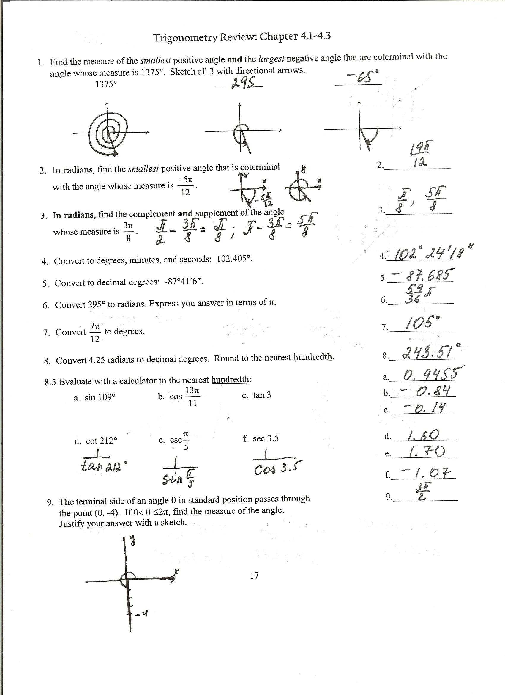Extended Algebra 1 Functions Worksheet 4 Answers as Well as Precalculus Honors