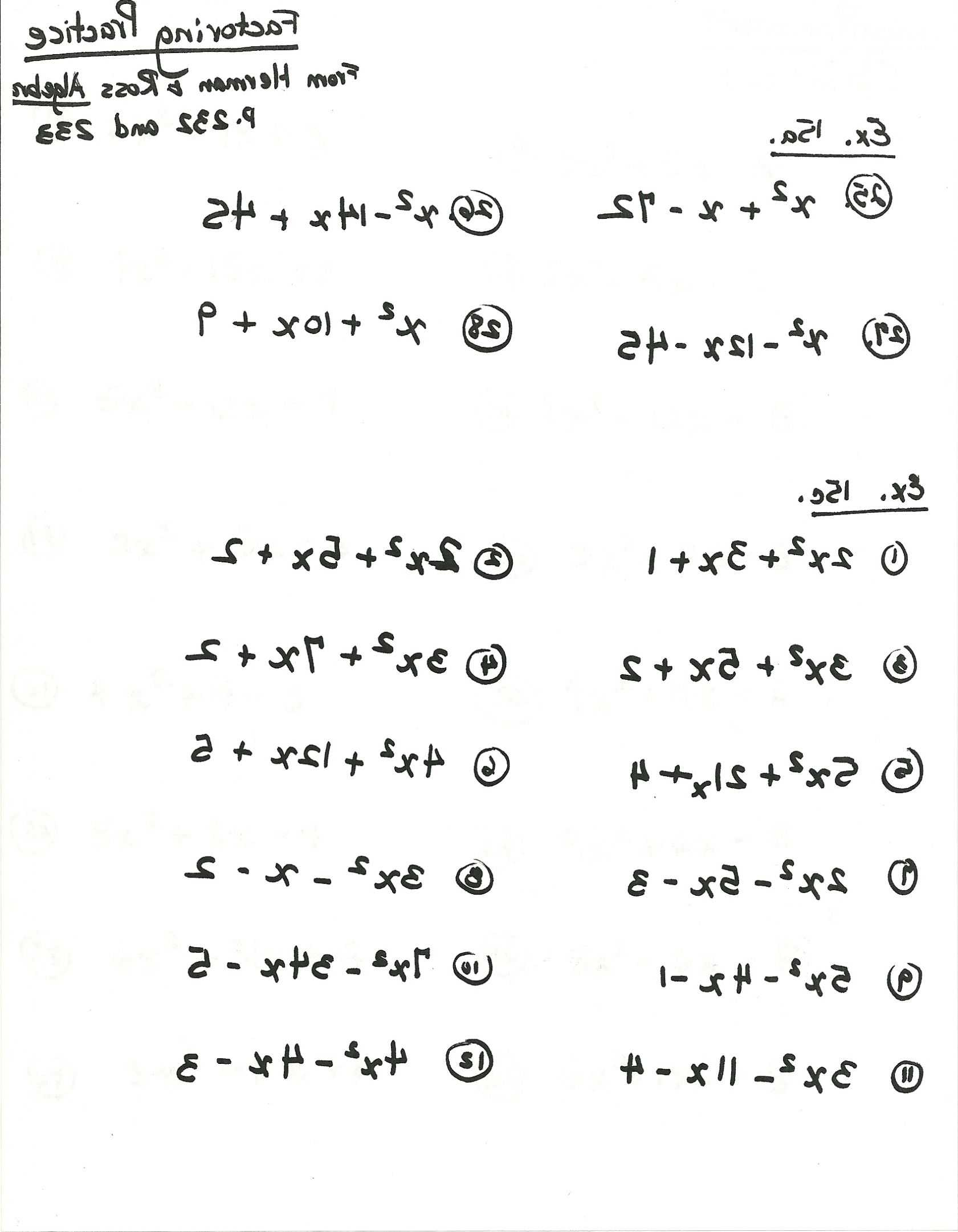 Factoring Difference Of Squares Worksheet Answers