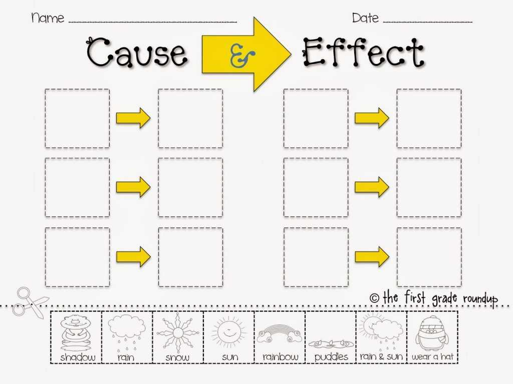 Financial Goals Worksheet together with Cause and Effect Worksheets for Kindergarten Image Collectio