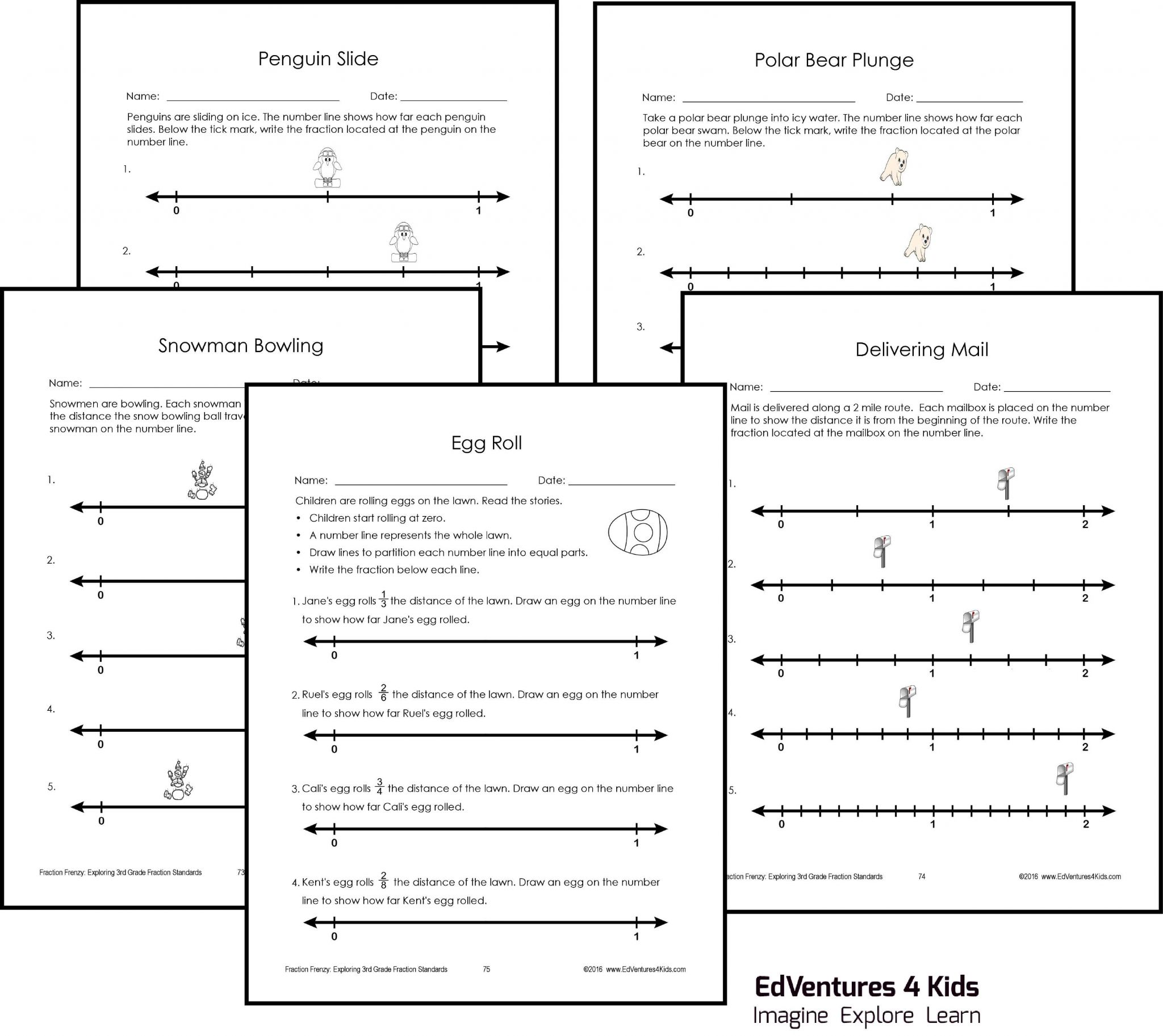 Fractions On A Number Line 3rd Grade Worksheets and Equivalent Fractions 3rd Grade Worksheet Best Number Line