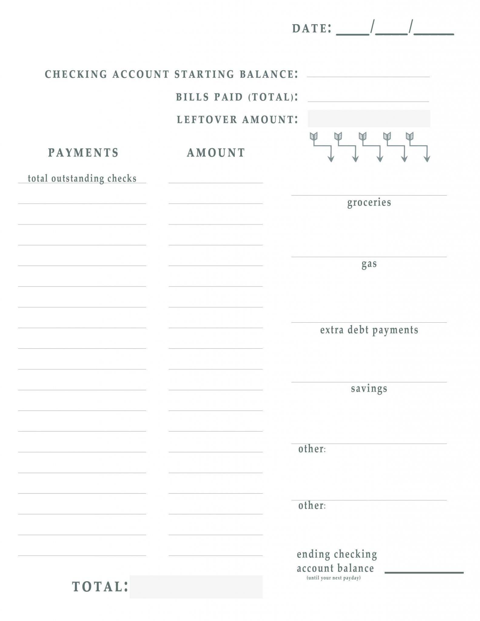 Free Printable Budget Binder Worksheets Along with Bill Pay Worksheet Free Printable