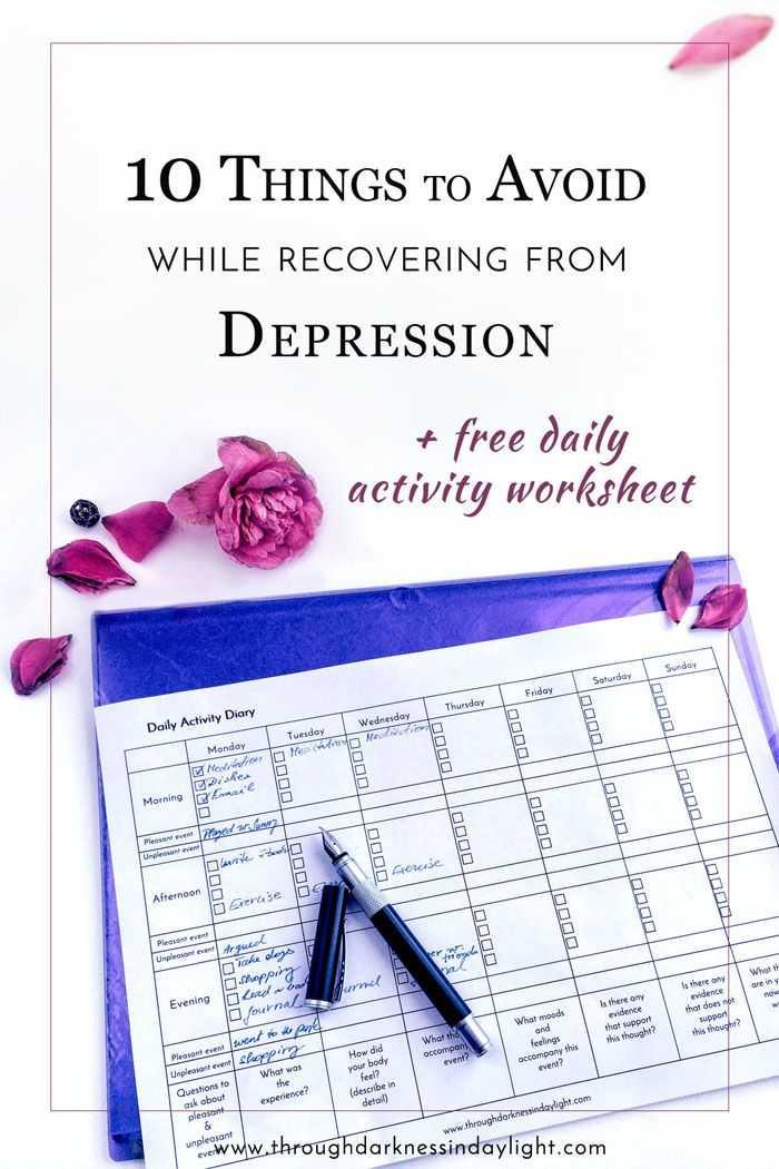 Free Printable Worksheets On Depression together with 1208 Best Depression Images On Pinterest