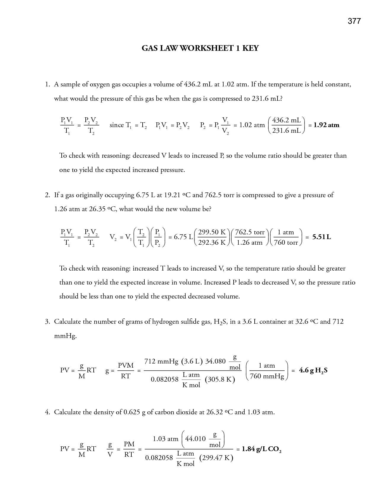 Gas Laws Practice Worksheet Also Gas Laws Worksheets with Answers Choice Image Worksheet for Kids