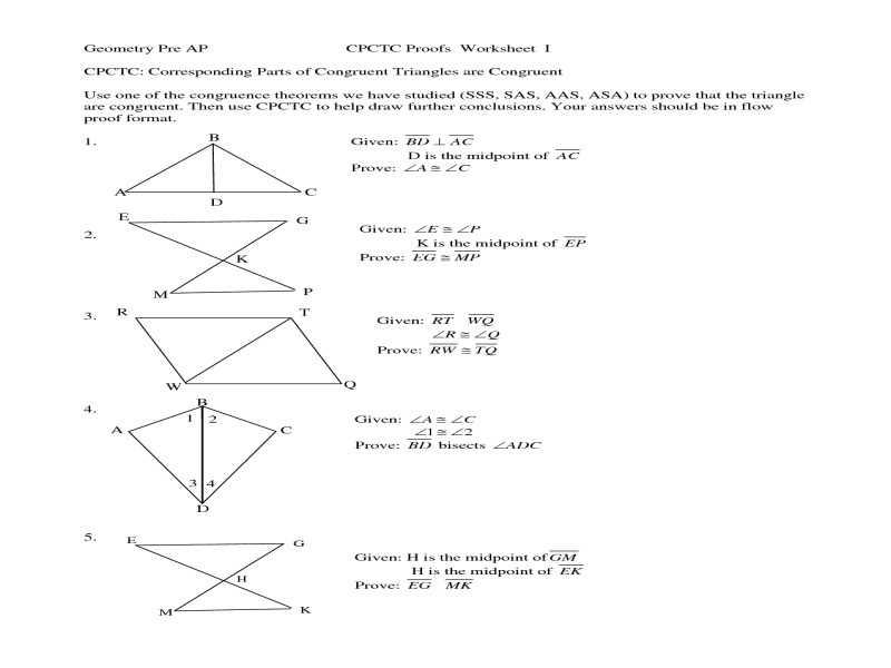Geometry Cpctc Worksheet Answers Key or Cpctc Worksheet Kidz Activities