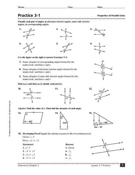 Geometry Parallel Lines Worksheet Answers as Well as Geometry Parallel Lines and Transversals Worksheet the Best