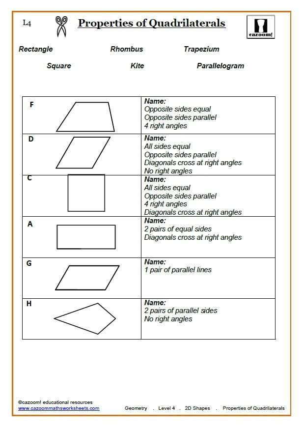 Geometry Parallelogram Worksheet and Proving Quadrilaterals Worksheet Answers Kidz Activities