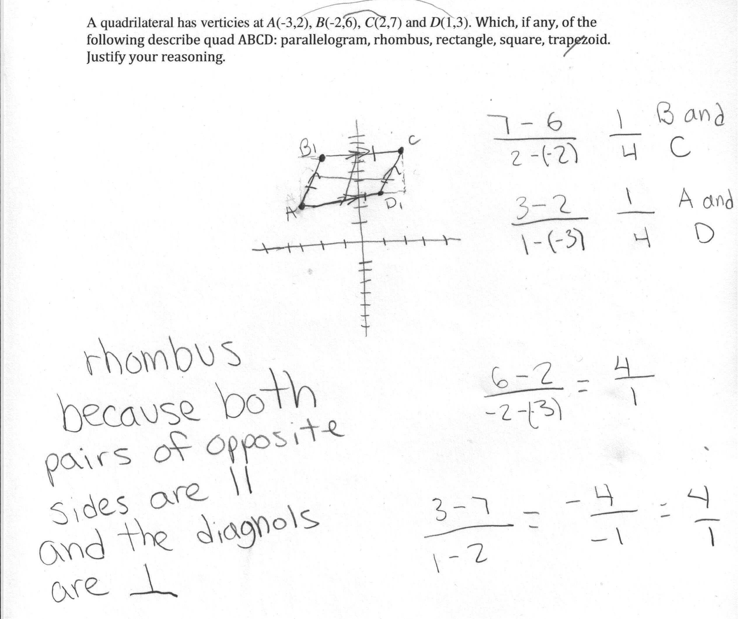 Geometry Parallelogram Worksheet Answers