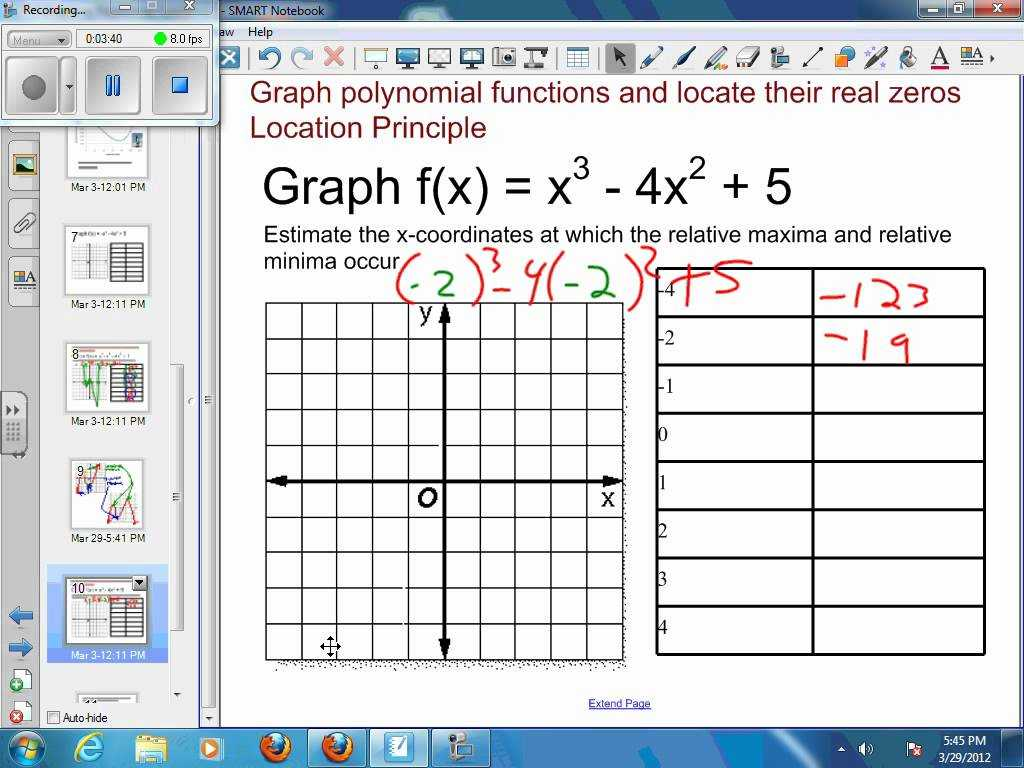 Graphing Acceleration Worksheet Also 72 Graphing Polynomial Functions Example 3 Approximate