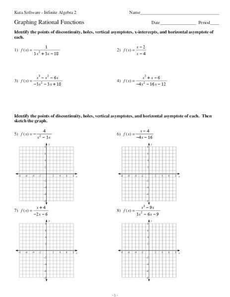 Graphing Rational Functions Worksheet 1 Horizontal asymptotes Answers together with Worksheets 42 Beautiful Graphing Rational Functions Worksheet Full