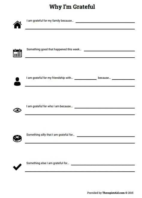 Gratitude Activities Worksheets Also why I M Grateful Worksheet therapist Aid