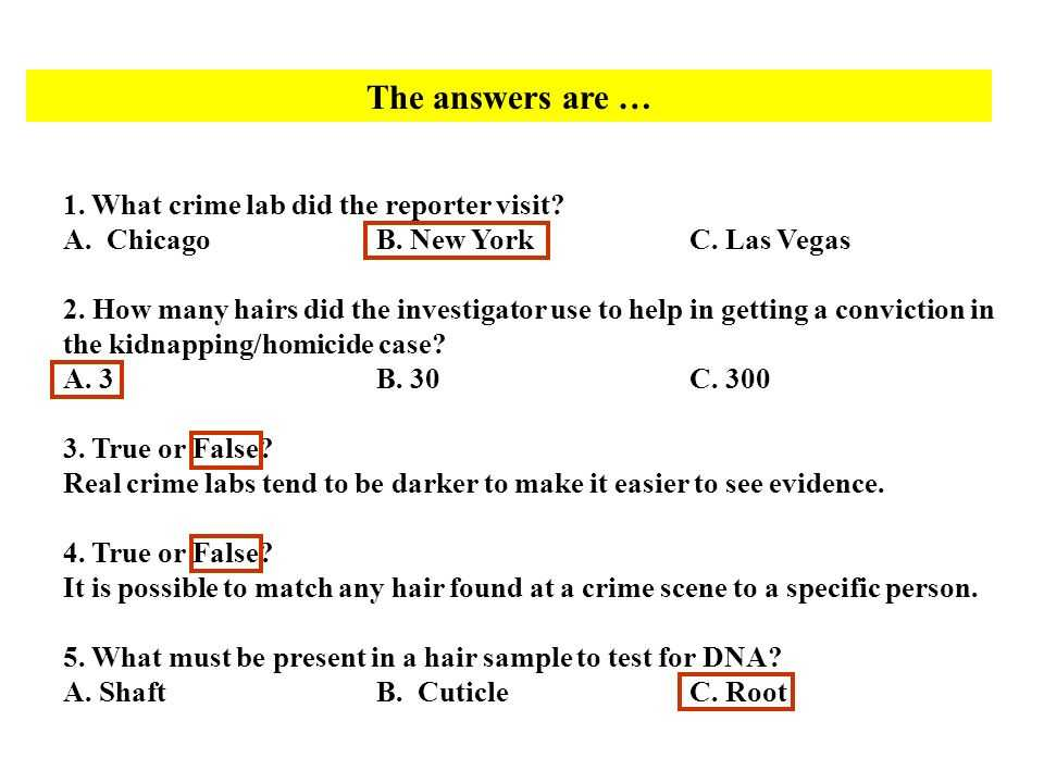 Hair and Fiber Evidence Worksheet Answers and Honors forensic Science Ppt