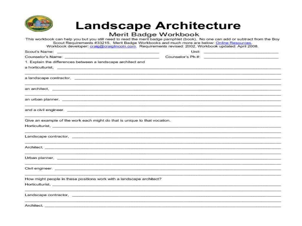 Home Budget Worksheet Along with New 20 Design for Landscape Architecture Merit Badge Workshe