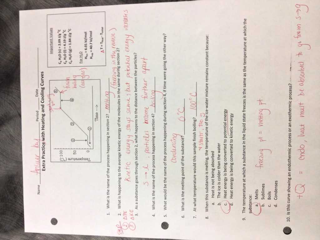 Ideal Gas Law Worksheet Answer Key with Heat and States Matter Worksheet Answers the Best Workshe