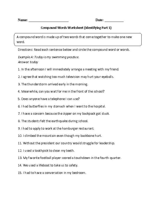 Identifying Adverbs Worksheet together with Identifying Pound Words Worksheet Education