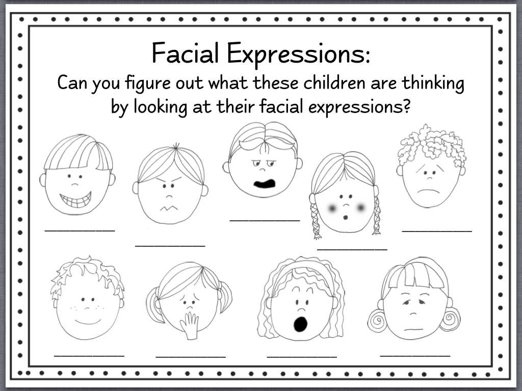 Identifying theme Worksheets Also Facial Expressions Worksheets Bing Images