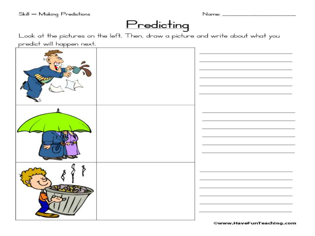 Inferences Worksheet 4 with 1000 About Making Predictions Pinterest Czepol