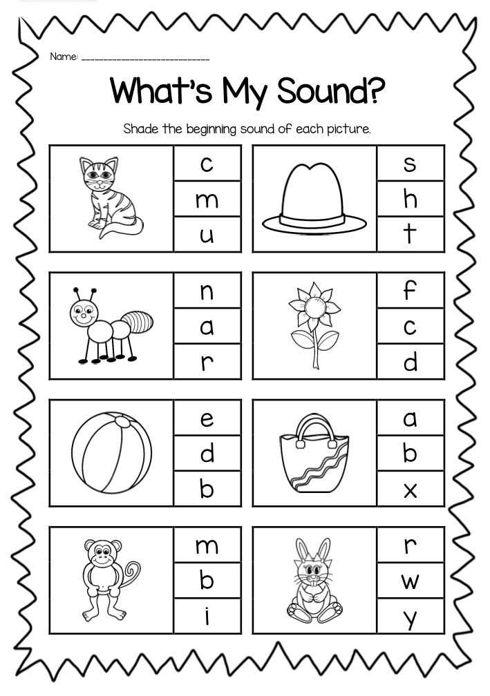 Initial sounds Worksheets as Well as Preschool Beginning sounds Worksheets Choice Image Worksheet Math