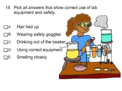 Lab Safety Worksheet Answers together with Smart Exchange Usa Sr Science Lab and Safety Quiz Q7