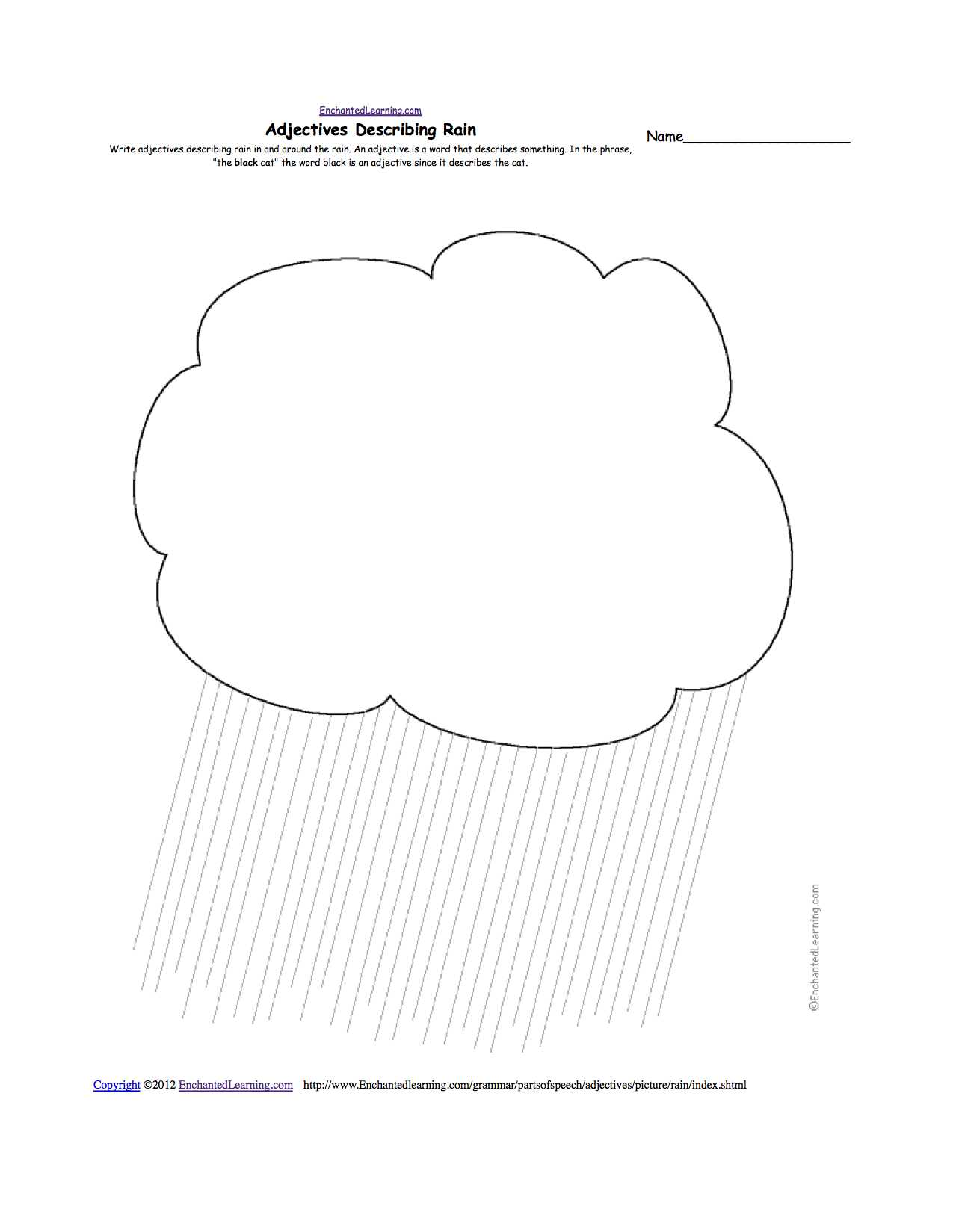 Label the Water Cycle Worksheet with Weather Related Activities at Enchantedlearning