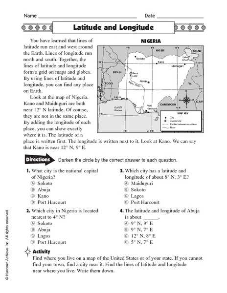 Latitude and Longitude Worksheets 7th Grade Along with Worksheets 46 Fresh Latitude and Longitude Worksheets Hi Res