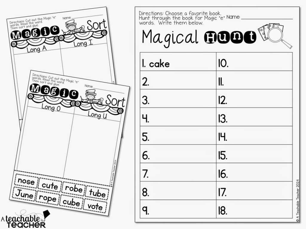 Learning to Read Worksheets or Cvce Highlighting Passage Magic E Words Reading