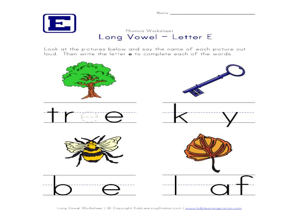 Learning to Read Worksheets with Workbooks Ampquot Long Vowel E Worksheets Free Printable Workshe