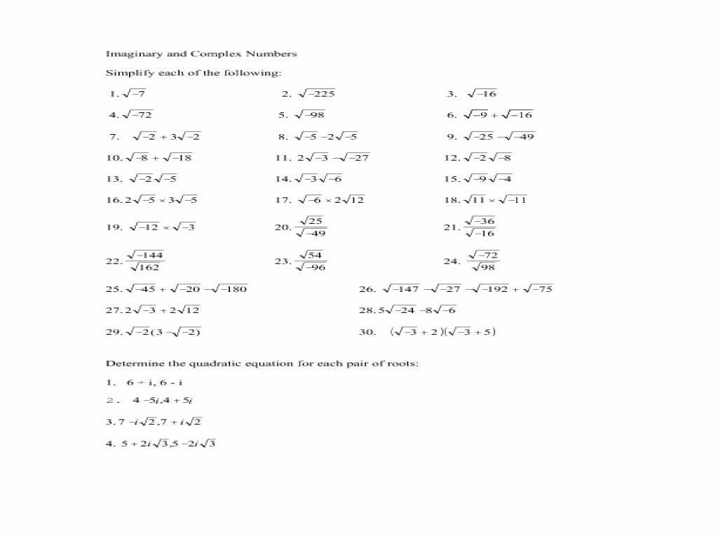 Linear Programming Worksheets with solutions Also Kindergarten Adding Subtracting Plex Numbers Practice Wor