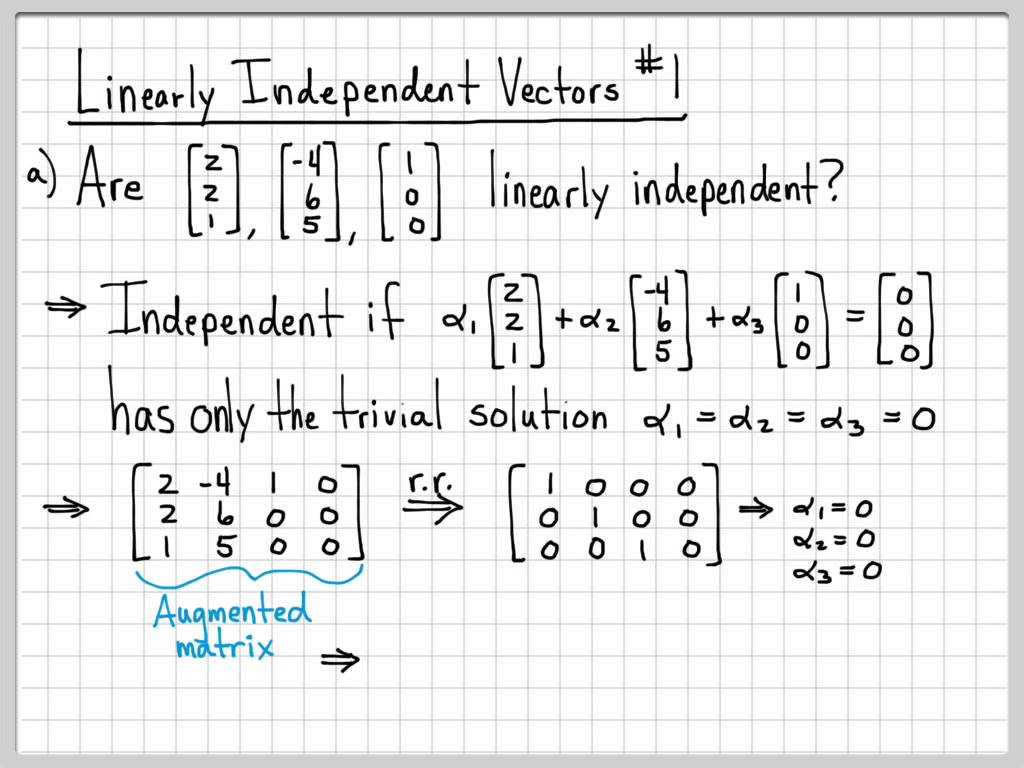 Linear Programming Worksheets with solutions and Linear Algebra Example Problems Linearly Independent Vecto